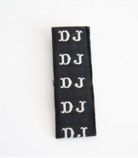 Štítek (iniciály) na oblečení - DJ