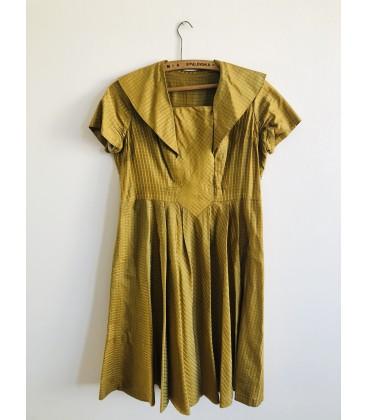 Kostkované šaty 50. léta